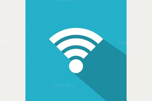 Flat Wi-Fi Icon