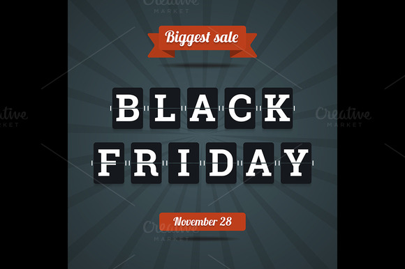 Black Friday Sale Illustration