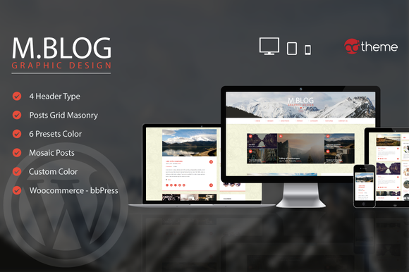 MBlog Modern Premium Blog Wordpres