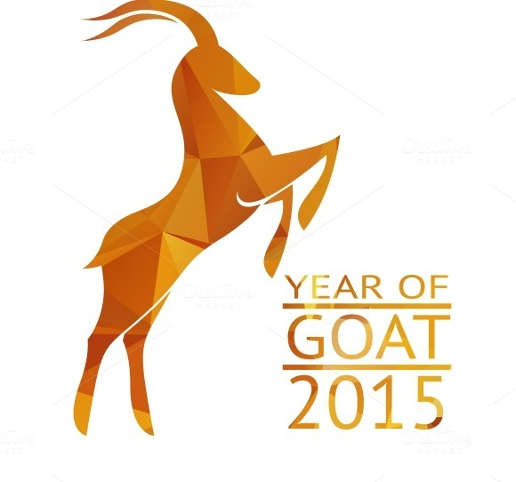 Goat New Year 2015 Sign