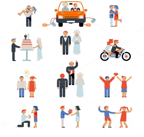 Assortment Of Couple Icons