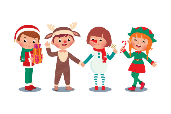 Children Celebrating Christmas