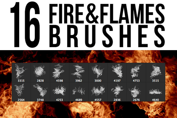 16 Fire Flames Brushes