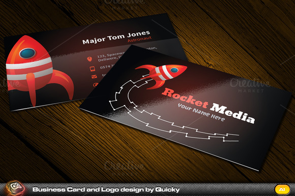 Rocket Business Card Logo