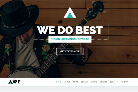 AWE One Page Business HTML Template