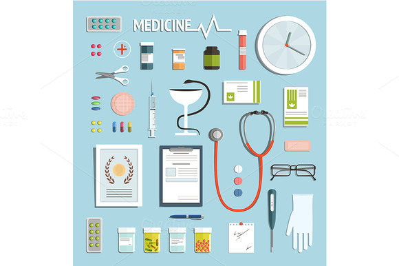 Medicine Objects And Medicament Set