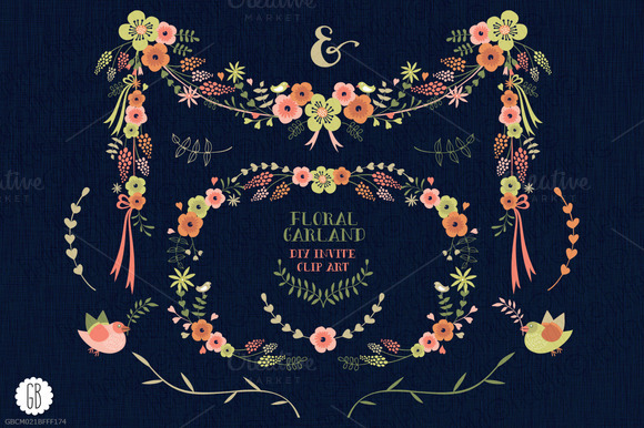 Floral Garland Flowers Muscari