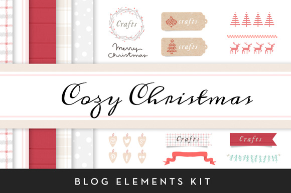 Cozy Christmas Blog Elements Kit