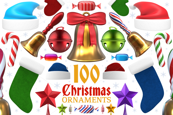 Christmas Ornaments And Items 3D
