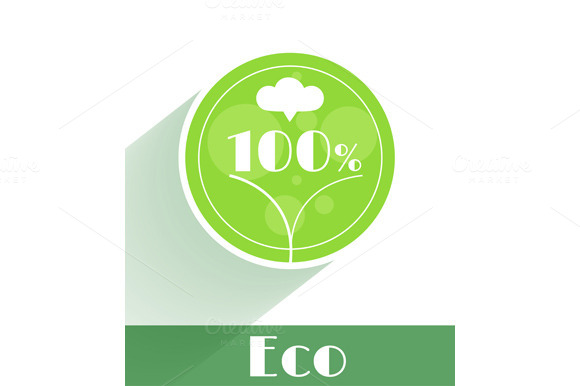 Flat Ecology Concept