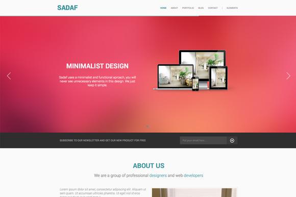 SADAF Minimal HTML Retina Template