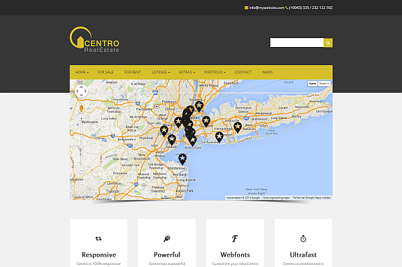 Centro Real Estate WordPress Theme
