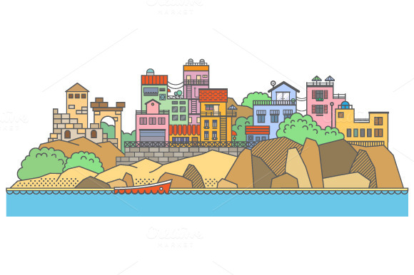 §іolor Houses On Rocks