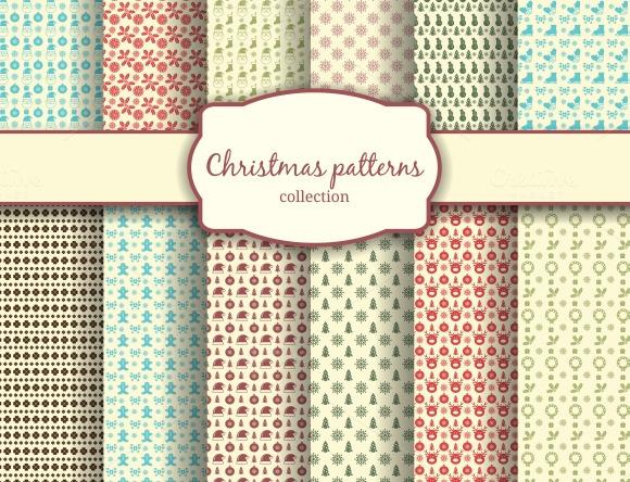 Assortment Of Christmas Patterns