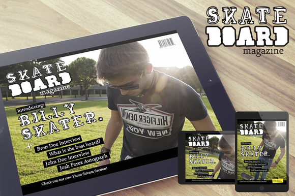 Skateboard Magazine IPad Template