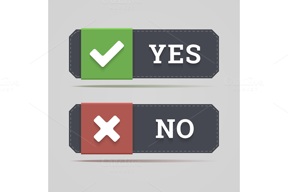 Yes And No Button
