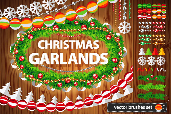 Christmas Garlands Set
