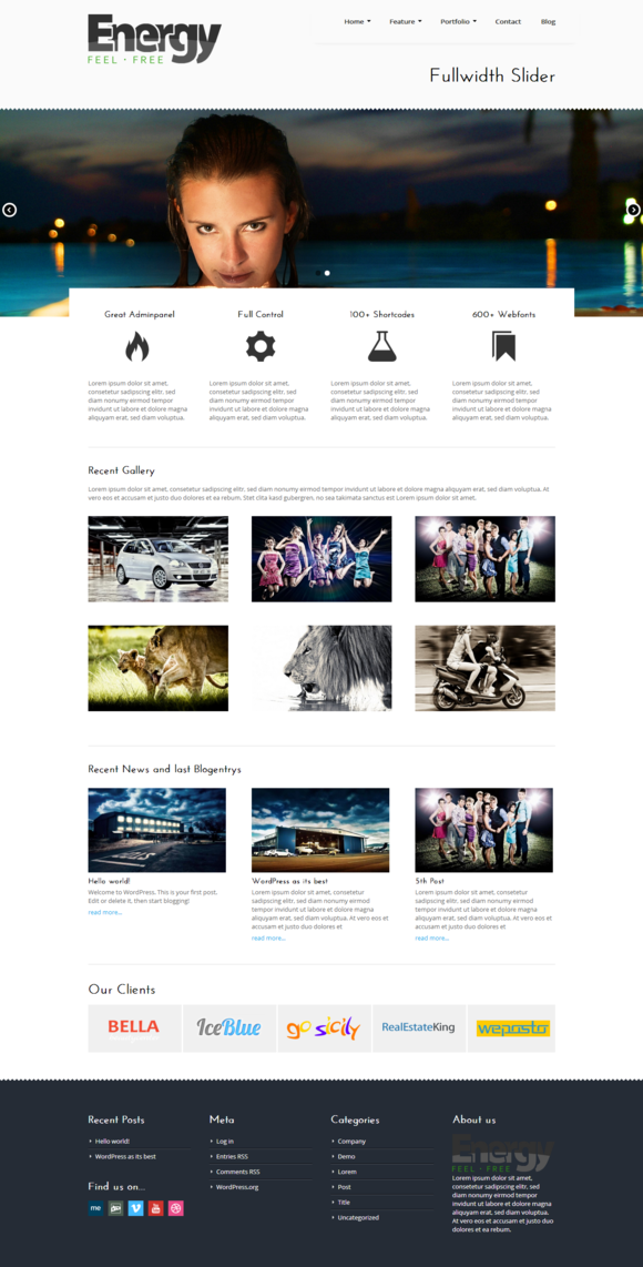 Energy WordPress Business Theme