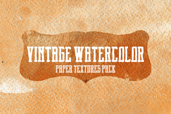Vintage Watercolor Textures Pack