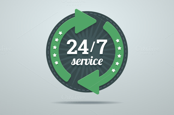 24 7 Hours Service Sign