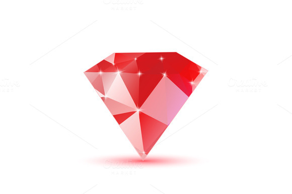 Diamond Red Triangular