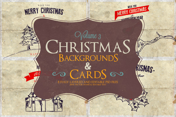 Christmas Background Cards Vol.3