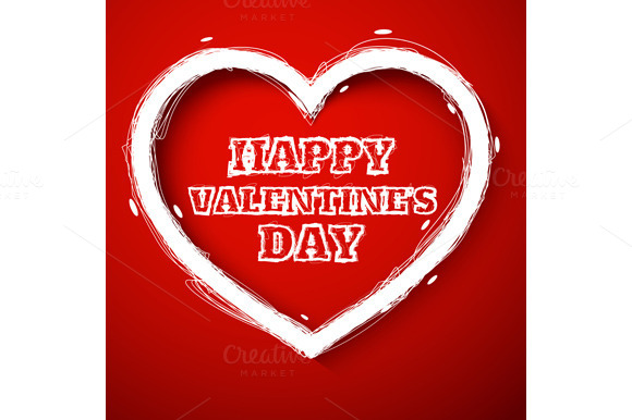 Valentines Day Draw Heart