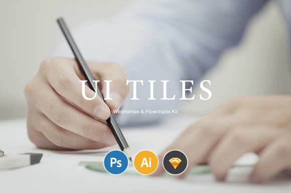 UI Tiles Website Flowcharts