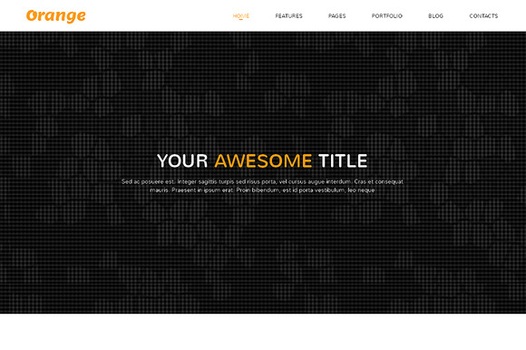 Orange Responsive Bootstrap Template