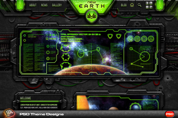New Earth PSD UI Theme