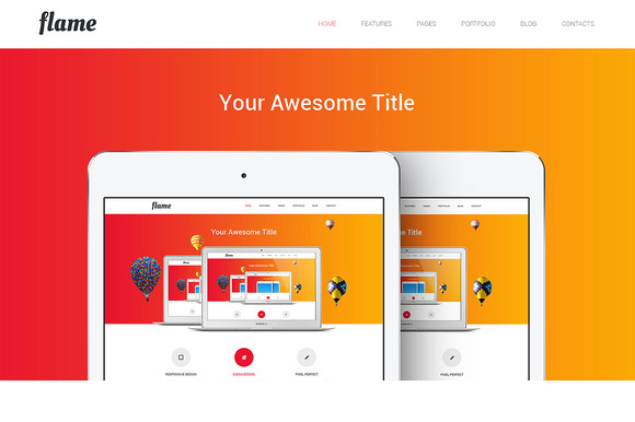 Flame Responsive Bootstrap Template