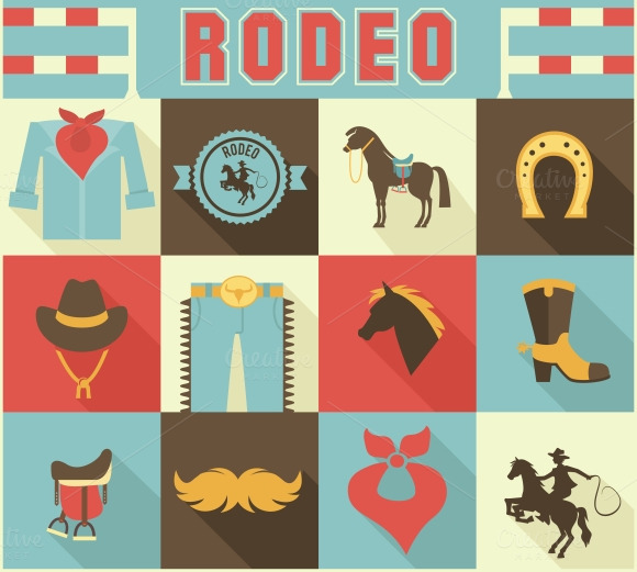 Rodeo Themed Icons