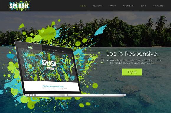 Splash Responsive Bootstrap Theme