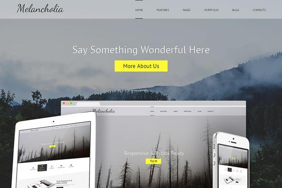 Melancholia Bootstrap Template