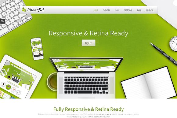 Cheerful Responsive Bootstrap Theme
