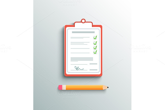 Flat Design Delivery Signature Clipb