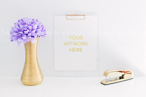 Gold And Purple Styled Stock Image