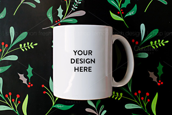 Styled Coffee Mug Product Mockup