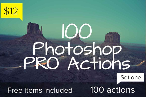 100 Photoshop Pro Actions Set 1