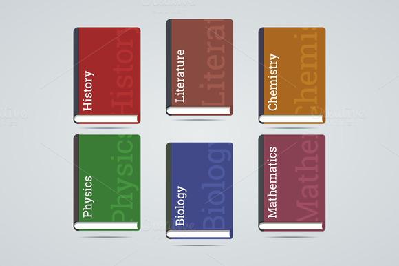 School Education Books Icons