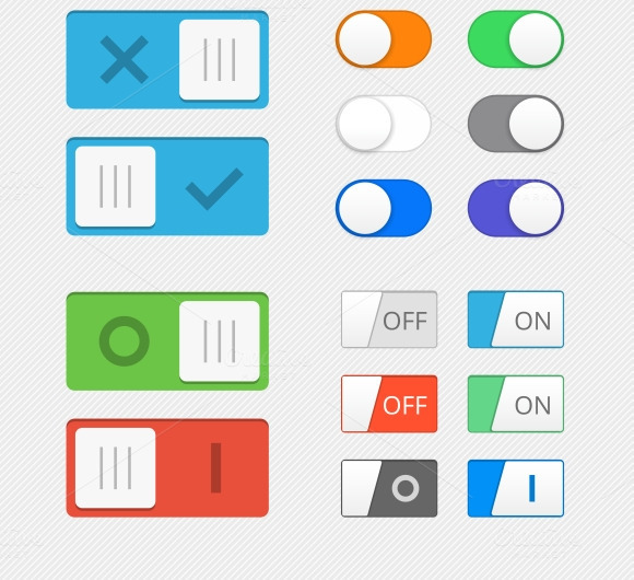Toggle Switch Icons