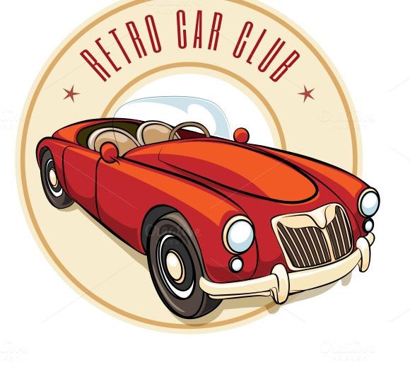 Retro Car Label