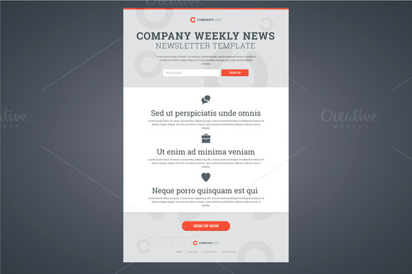 Company News Newsletter Template