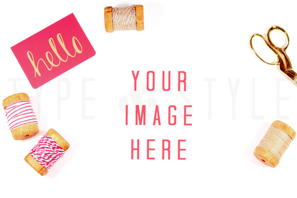 Styled Stock Photo Craft Desktop
