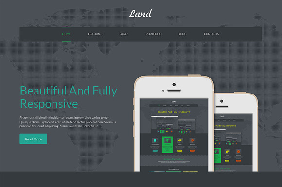 Land Bootstrap Responsive Template