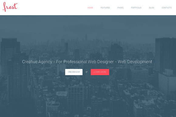 Frost Responsive Bootstrap Theme