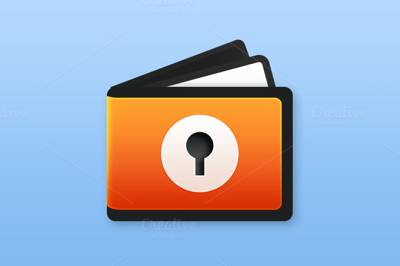 Wallet Lock Icon