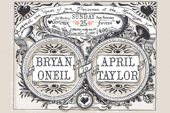 Vintage Wedding Banners Labels
