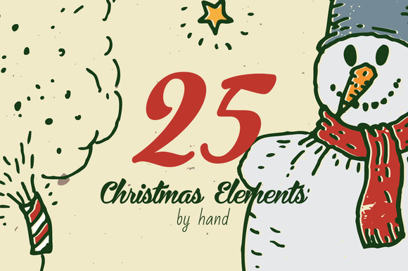 25 Christmas Elements By Hand Vol.2