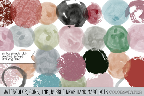 Assorted Dots Brushes Stamps Png